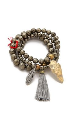 Lead Arrowhead Beaded Bracelet Set €97.32 | $130.00