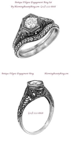 Great Custom Jewelry Pieces Made for Your Favorite Outfits Antique Style Engagement Rings, Filigree Engagement Ring, Filigree Ring, Designer Engagement Rings, Engagement Ring Settings, Latest Jewellery Trends, Jewelry Trends, Bridal Rings, Wedding Rings
