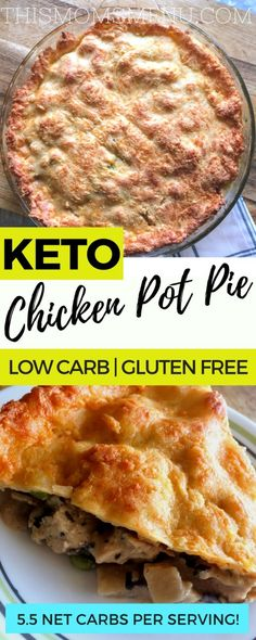 Chicken Pot Pie, Keto | Low Carb #chickenpotpie #ketorecipes #keto #comfortfood #healthycomfortfood