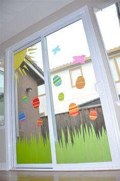 DIY Window clings!! {TUTORIAL} tissue paper window art - Creative Juice GENIUS!!