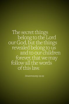 Deuteronomy 29:29 (lock screen)
