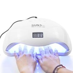 Pro UV Lamp LED Nail Lamp Nail Dryer For All Gels Polish Sun Light Infrared Sensing Timer Smart For Manicure This product is professional lamp for nail. When you use the Timing Mode, It is When you use Low Heat Mode, It is Lampe Led, Led Lamp, Lamps, Cure Nails, Gel Nails, Uv Gel Extensions, Uv Nail Lamp, Light Gels, Dry Nail Polish