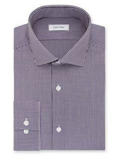 Calvin Klein Purple Dragon Steel Non Iron Performance Slim-Fit Dress Shirt