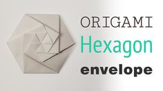 Origami Hexagonal Envelope / Pouch - Video Tutorial,   This is a cool origami hexagonal envelope or pouch, it looks like its a 'Tato', however it's folded from a square or rectangle.  Would make p...  #envelope #hexagon #hexagonal