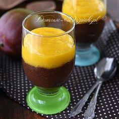 + czekoladowy pudding chia z mango Smoothie Drinks, Smoothies, Polish Recipes, Chia Pudding, Chia Seeds, Mango, Deserts, Food And Drink, Lunch