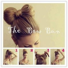 By Natali Germanoska. #bow #bun