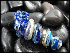 Lampwork - Glass Seashell - made by me, Jodi Hesting - www.beadworx.com