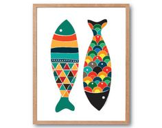 Fish Art Print by dekanimal  ● SAVE UP TO 40% by purchasing PRINT SET ● ALL PRINT SETS can be customised with your favourite print combination. For more details, please check out the PRINT SETS below: https://www.etsy.com/shop/dekanimal?section_id=18725636&ref=shopsection_leftnav_1  Art Print Info: ● FRAME NOT INCLUDED ● ● Different sizes available from scroll-down menu ● Art prints are printed on 192g Archival matte paper with Epson Archival pigment ink.  Please feel free to message us if…