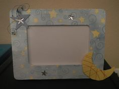 Moon+and+stars+baby+frame+by+Blazesetter+on+Etsy,+$8.00
