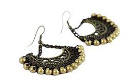 """""""Boucles d'oreilles La Paz""""-Boucles d'oreilles perles et cuivre"""