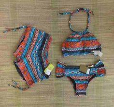 Conjunto Biquíni Top Cropped Estampado E Sunkini - R$ 139,90