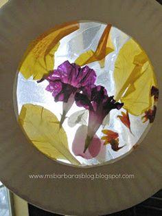 For the Children: Flower Petal Sun Catchers