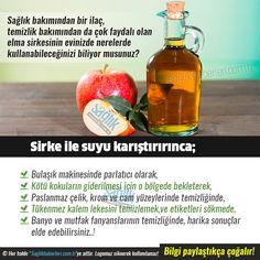 Sirke ve özellikle elma sirkesinin evinizde nerelerde kullanabileceğinizi biliyor musunuz? #sağlık #saglik #sağlıkhaberleri #health #healthnews @Sa