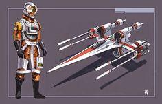 Star Wars Episode VII Republic X Wing Starfighter concept art