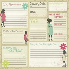 Karen Foster Design - Maternity Collection - 12 x 12 Paper - Maternity Memories Pregnancy Scrapbook, Pregnancy Books, Pregnancy Journal, Baby Journal, Pregnancy Tips, Pregnancy Tracking, Baby Shower Scrapbook, Baby Scrapbook Pages, Scrapbook Paper