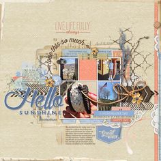 HelloSunshine #scrapbook page by Anke at #designerdigitals