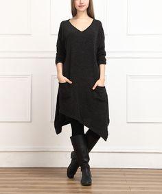 Look at this #zulilyfind! Black Handkerchief Dress by  #zulilyfinds