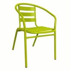 Lot de 2 fauteuils empilables bistrot, alu ou métal laqué LES PETITS PRIX