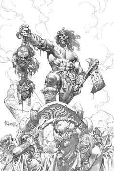 - Page 15 - The Illustrated Conan - The REH Forum - Page 15 Conan Comics, Bd Comics, Illustrations, Art And Illustration, Comic Books Art, Book Art, Drawing Sketches, Art Drawings, Arte Viking