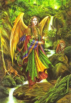 Archangel Uriel... I love this archangel as well as all of them but I work with this one a lot and Archangel Michael, Zadikiel, Jophiel, Gabriel, Raziel, Haniel and Sandalphon I work with most :) ( so far :) )