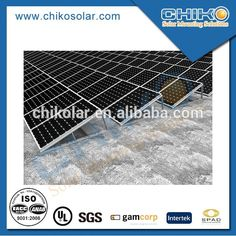 Flat roof solar panel support structure