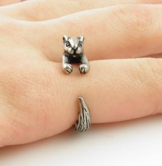 #KejaJewelry on Artfire   #ring                     #Squirrel #Chipmunk #Animal #Wrap #Ring #Silver     Squirrel / Chipmunk Animal Wrap Ring - Silver                                 http://www.seapai.com/product.aspx?PID=763578