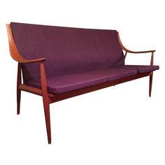 France & Son Danish Modern Sofa by Vintagefurnitureetc on Etsy