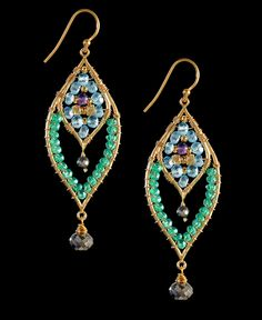 Mashka Stone Lotus Drop Earrings...not sure I am up to this kind of challenge, but there are so beautiful.