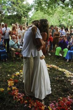 via Kiya + Damien's 60s Summer of Love Wedding / Wedding Style Inspiration / LANE (instagram: the_lane)
