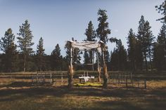 wedding arch / lodge wedding ceremonies