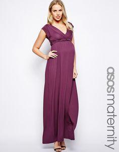 dec3880babc ASOS Maternity Exclusive Drape Maxi With Ties at asos.com