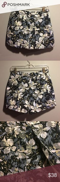TopShop Grey Floral Skort I am in love with this skort. Bought it from Nordstrom because I had to have it but ended up being too tight on me. I do not want to sell this! I want it bad and have never wore it (only tried on multiple times at home- in hopes to suck in my belly& make it work) If really needed I could model. Shorts with 2 front flaps making it look like skirt. Side zipper closure. The polyester material is very good and thick. Made in Turkey. Sooo cute when on... trust me…