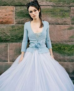 Love the blue-gray muted colors -- also love the light-weight cardigan over tutu look. Definitely Dani....