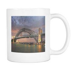 SYdney Harbour Bridge New South Wales doublesided 11 ounce coffee mug