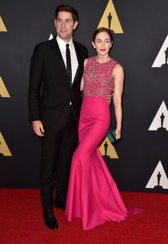 Pin for Later: Celebrities Get a Head Start on Award Season at the Governors Awards John Krasinski and Emily Blunt
