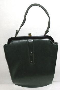 Forest Green Vinyl Handbag