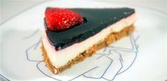 Tarta de chocolate blanco y fresas Receta de cocina facil sana y original La encimera azul
