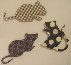 animal silhouette magnets - gingham and polka-dot