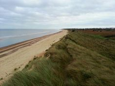 A fine example of long-shore drift. Winterton and hinterland, Norfolk, UK taken on a mild December day 2015 by Andy Parker