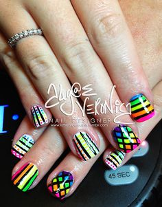 neon abstract! #nail #nails #nailart