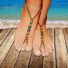 Rasta and Reggae Nyoshoos Barefoot Sandal Jewelry @ Rastaempire.com