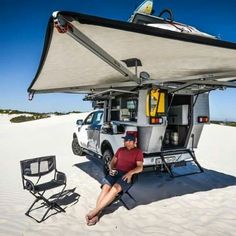 Camper Awnings– Safeguard Yourself From The Rain When Camping – Locations To Camp Truck Bed Camper, Off Road Camper, Truck Camping, Overland Truck, Overland Trailer, Teardrop Camper Trailer, Camper Trailers, Vw T3 Syncro, Tacoma Truck