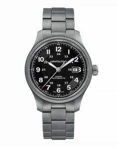 Ρολόι HAMILTON KHAKI Field Automatic Titanium H70565133