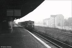 """Berlin 1983 S-Bahnhof Wollankstrasse """"Grenzbahnhof"""" ohne Grenzverkehr"""