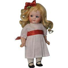 "Whimsical 7"" Antique Gebruder Heubach 9573 Googly German Bisque Doll from turnofthecenturyantiques on Ruby Lane"