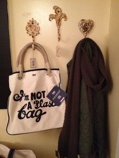 My score from Ebay! This bag is a limited edition! And the hooks from One Kings Lane are perfect!