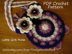 Purple Owl Purse,Crochet PDF Pattern,Crochet Owl Purse,Purple Shoulder Owl Purse,Girls Owl Shoulder Purse,Purple Crochet Owls,Owl Purse,5.47