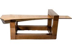 Modern Hand-Hewn Coffee Table...amazing piece of architecture