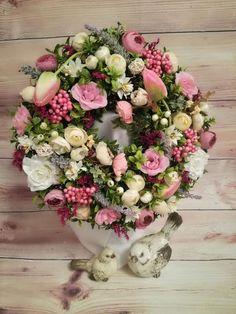 Skupina - Jar a veľkonočné inšpirácie Floral Wreath, Bude, Wreaths, Garlands, Home Decor, Floral Crown, Decoration Home, Door Wreaths, Room Decor