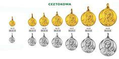 """Medaglia realizzabile in argento ed in oro """"Madonna di Ceztokowa"""""""